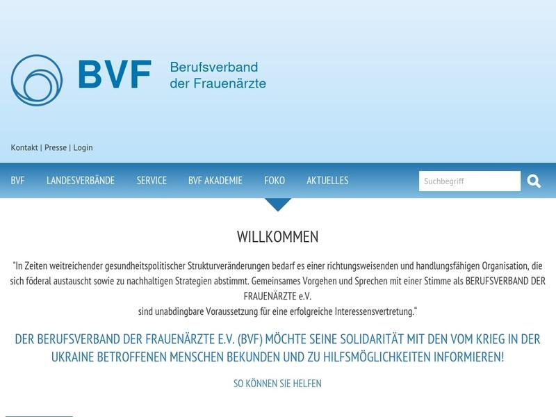 Screenshot von http://www.bvf.de/